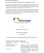 The Proposed Change In Investment Mandate Of Ireit Global (